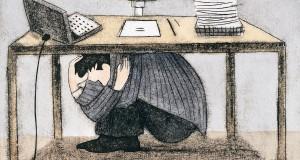 stress-Hiding-Under-Desk